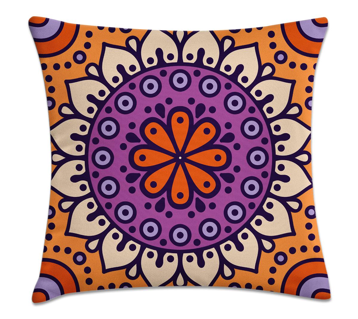 66751d996 Capa de almofada Mandala roxo – Kombigode Store