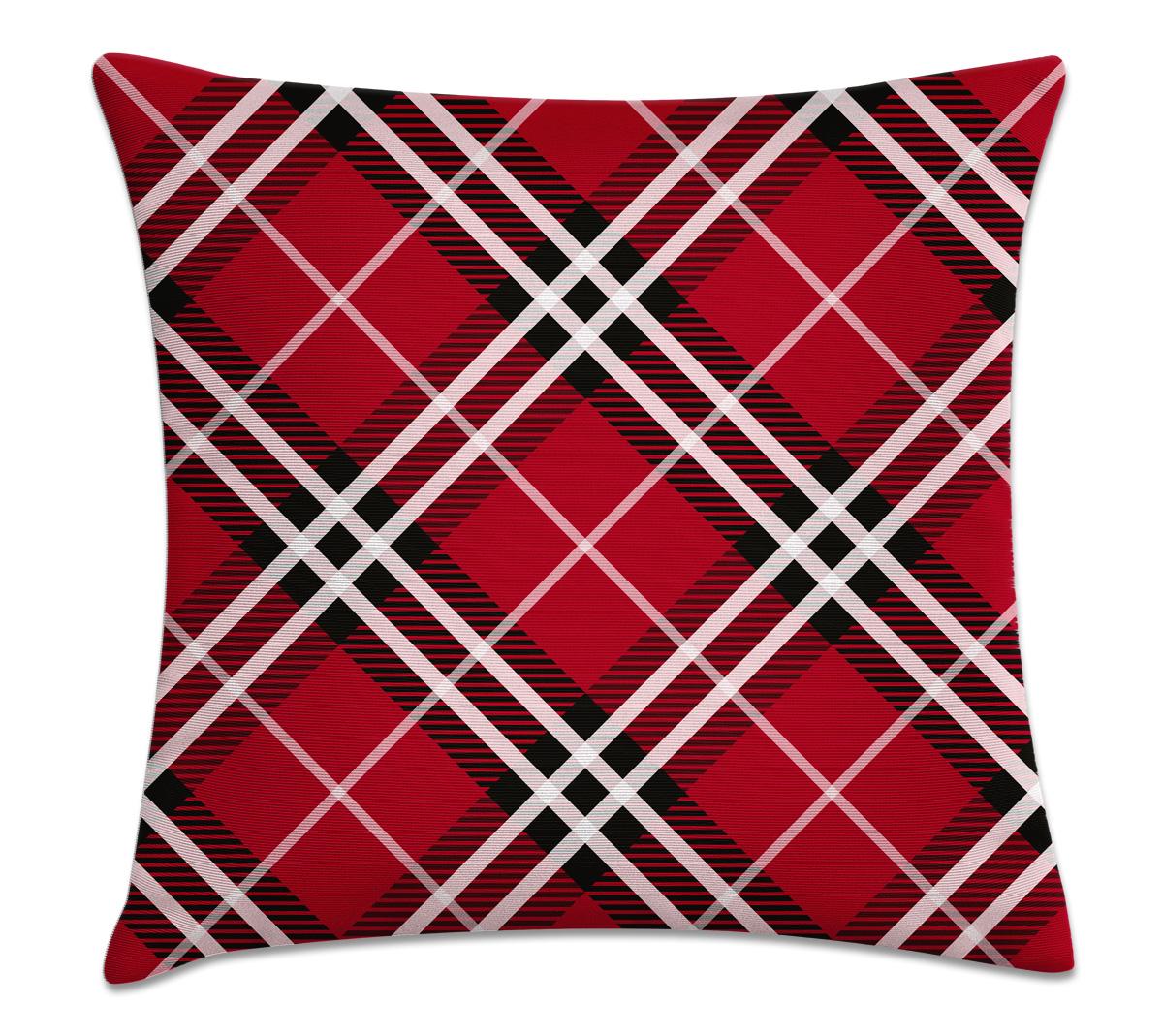 967cdf8cb capa de almofada xadrez vermelho e branco – Kombigode Store